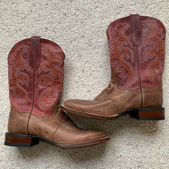 450db35138c Dan Post Womens Caiman Cowboy Boots Ruby Sz 9 NWOT